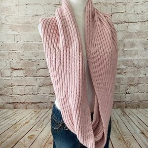 J. Crew wool cashmere blend chunky scarf